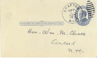 Postcard addressed to William M. Chase