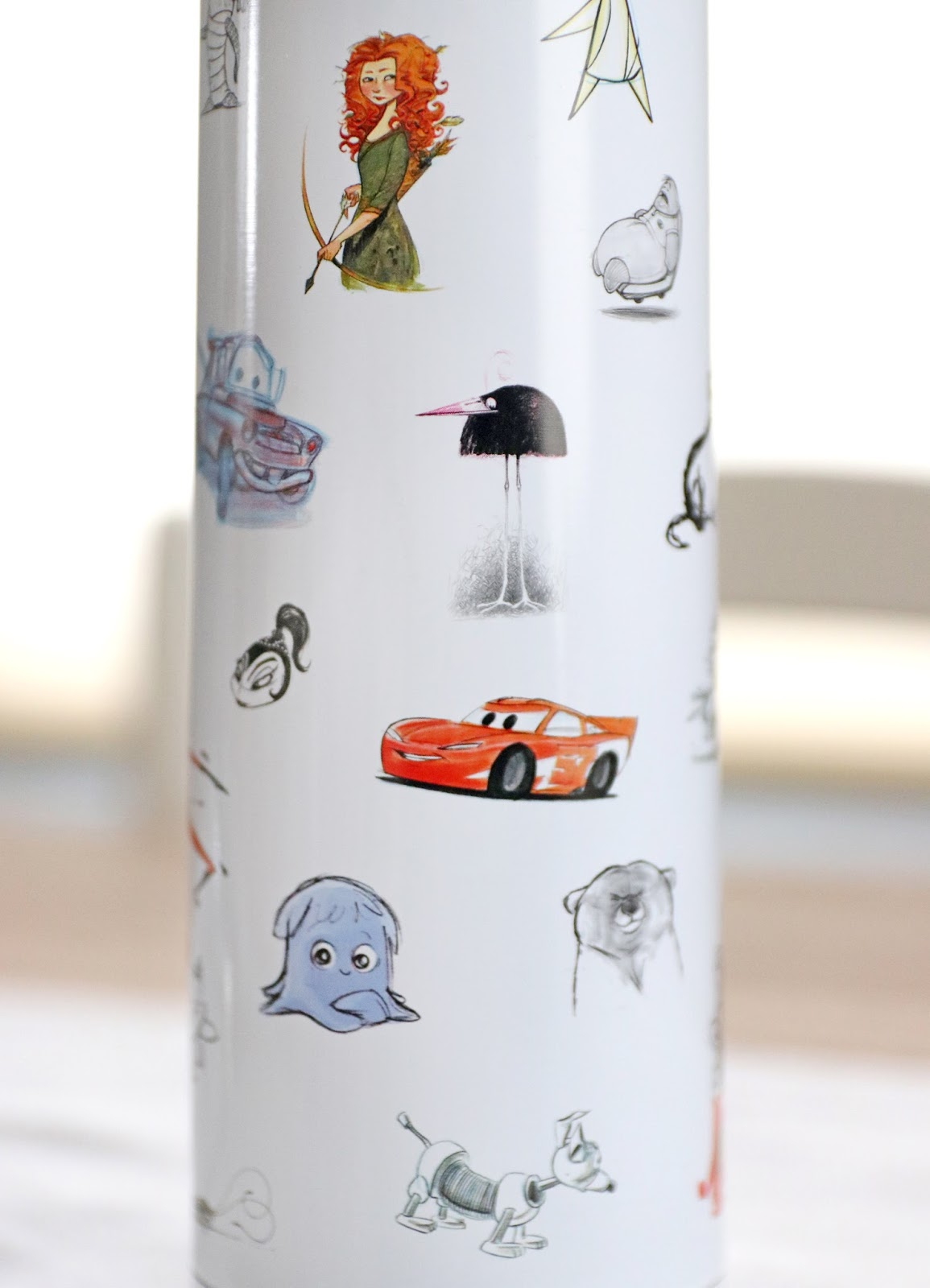 d23 expo pixar concept sketch art water bottle
