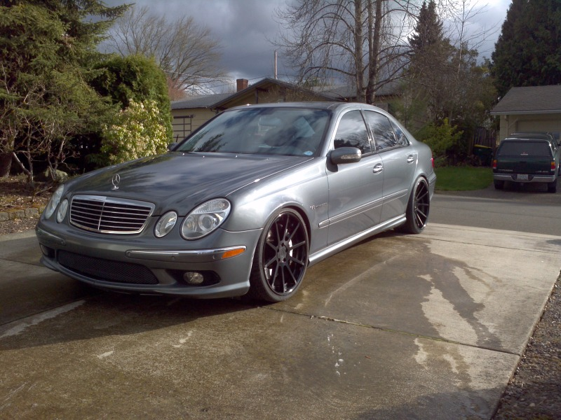 mercedes benz e55 amg w211 adv1 rims benztuning. Black Bedroom Furniture Sets. Home Design Ideas