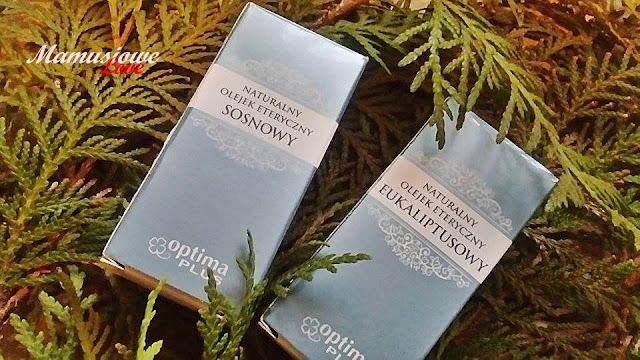 naturalne olejki eteryczne - sosnowy i świerkowy - Optima Plus ( pomocne przy grypie i przeziębieniu)