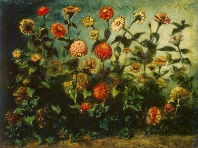Flores - Delacroix, Eugène e suas principais pinturas ~ Romantismo francês