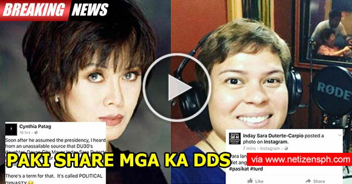 LOOK: Sarah Duterte Hinamon Ang Actress na si Cynthia Patag Goes Viral. Find Out Why?