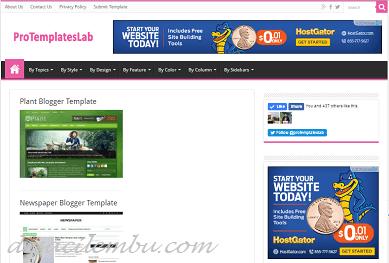 Pro Template Lab pilihan Blogger