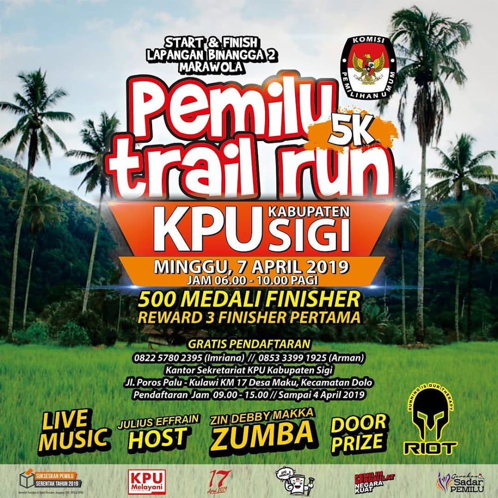 Pemilu Trail Run - Sigi • 2019