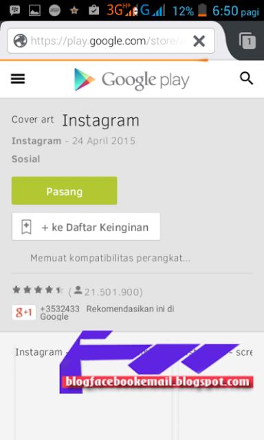 yang kini ini sudah di beli facebook Cara Daftar Membuat Akun Instagram  Android