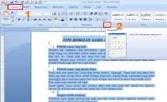Cara Mengatur Jarak Spasi Tiap Baris Pada MS Word