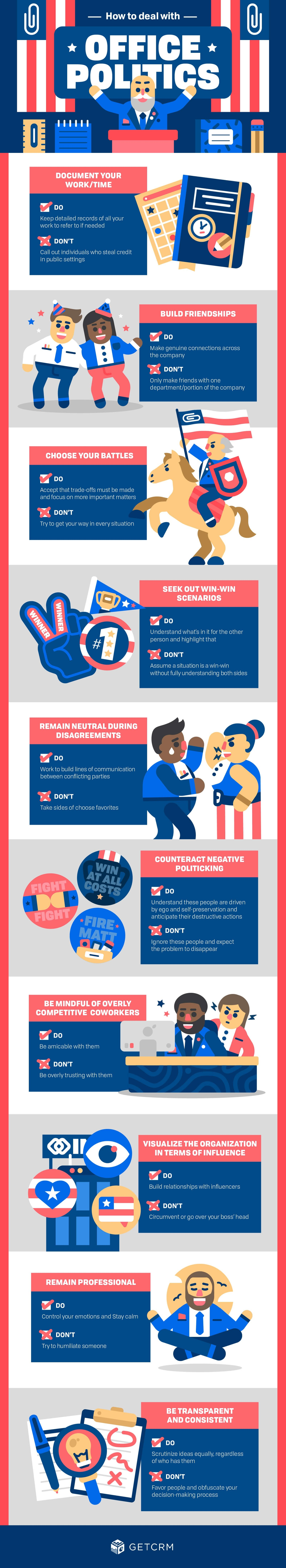 How to Deal with Office Politics - #infographic