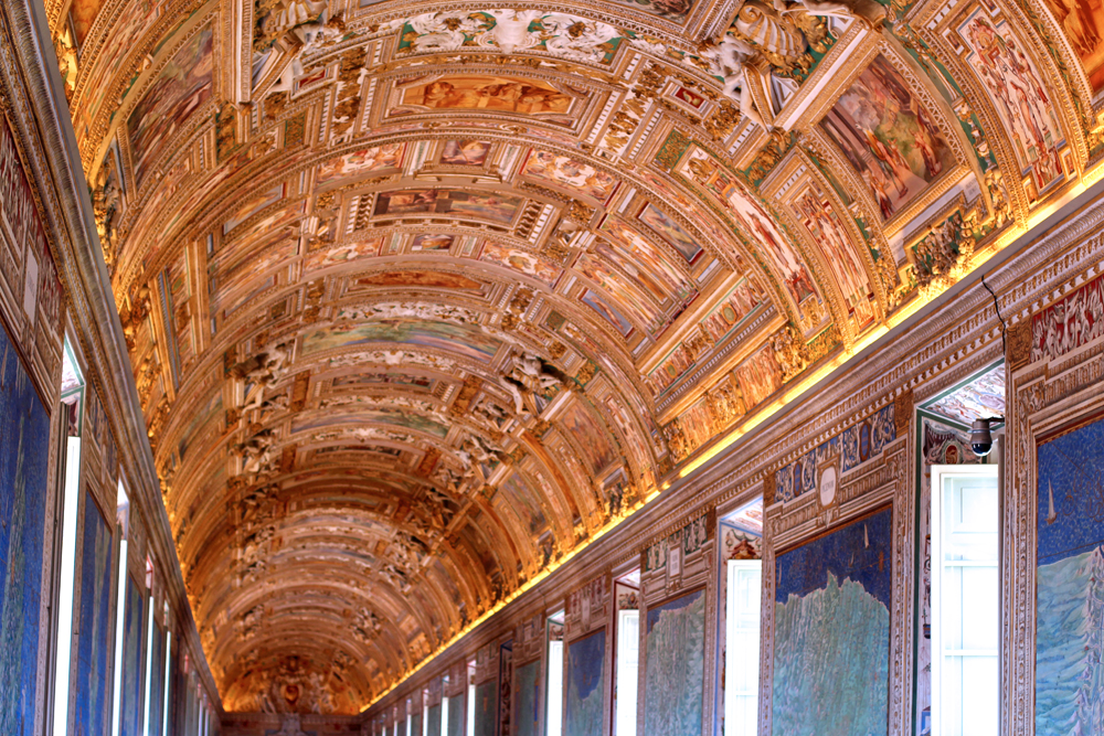 Gallery of Maps (the most beautiful room in the world), The Vatican, Rome - travel blog