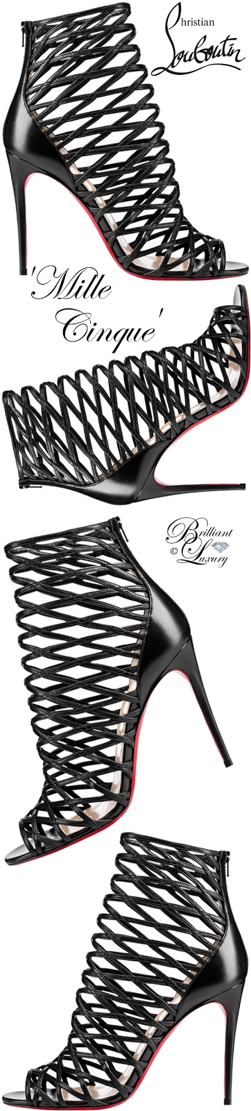 Brilliant Luxury ♦ Christian Louboutin Mille Cinque Lattice Red Sole Bootie #black