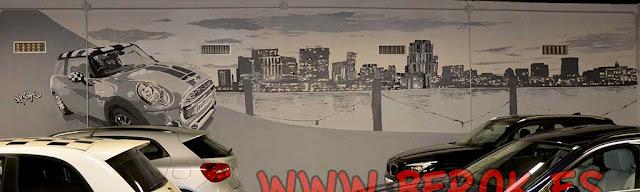 Pintura mural concesionario Sant Cugat