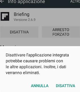 Disattiva app