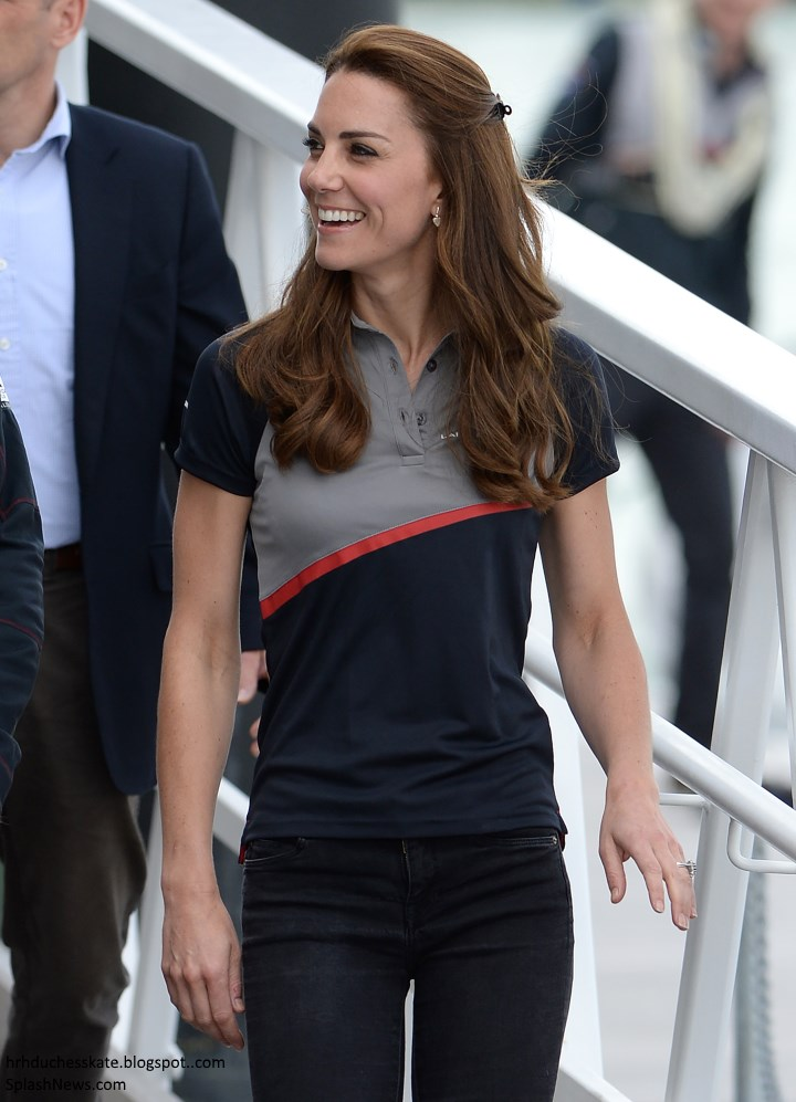Duchess Kate William And Kate Return To Portsmouth For America S Cup World Series Amp Azuni Giveaway