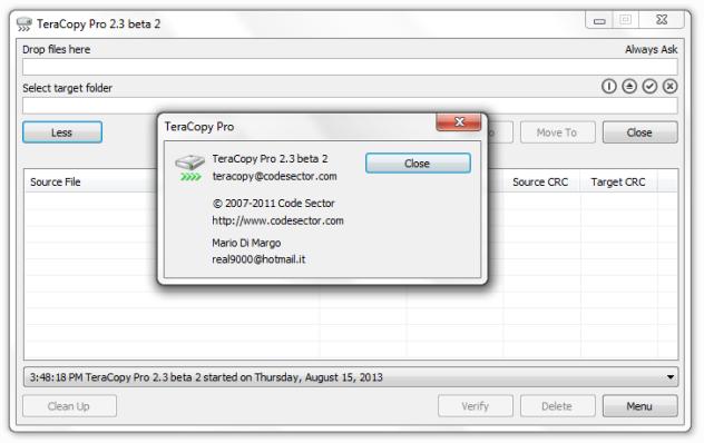 tera copy 2.3 serial key