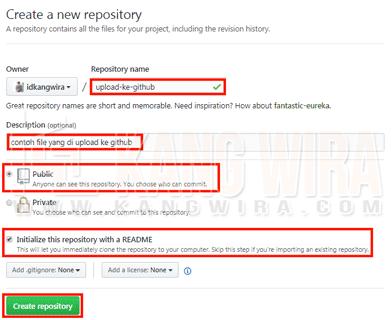 Contoh Upload File ke Github