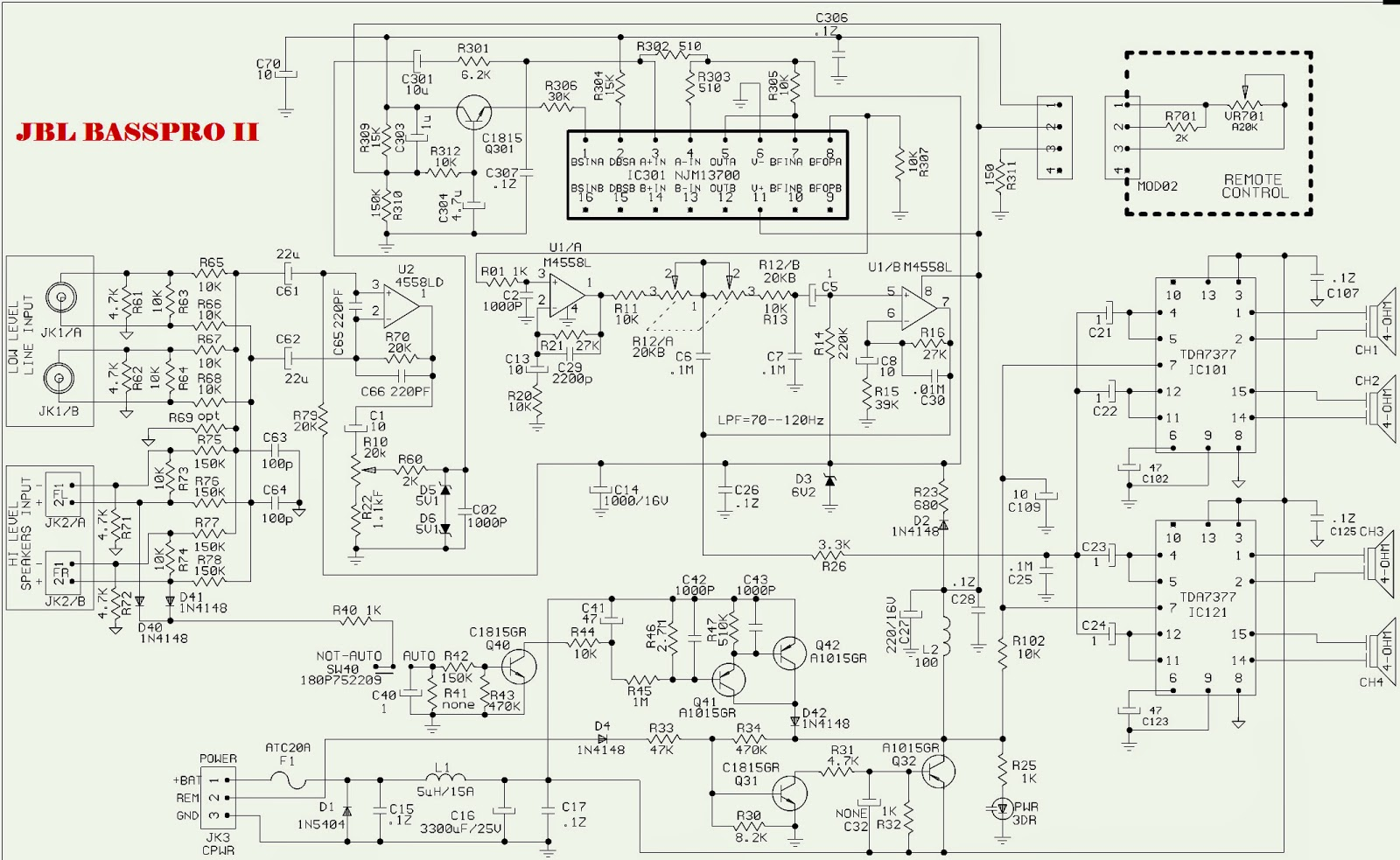 Vehicle Amplifier Wiring Diagram