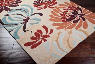 custom hand tufted rug in loop pile