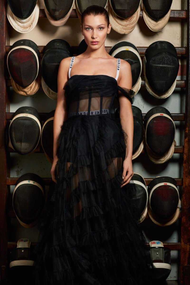 Bella Hadid in Vogue Paris February issue by Mario Sorrenti