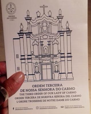 Folheto da visita à Igreja e Ordem do Carmo