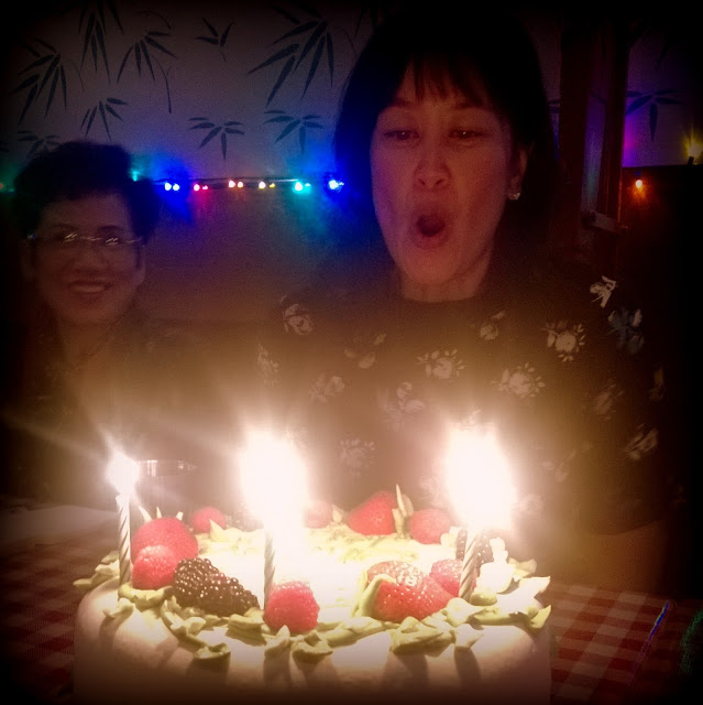 celebrating at pok pok l.a. with sweet lady jane's triple berry cake