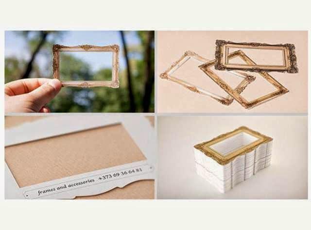 ilginç ve yaratıcı kartvizit tasarımlarına örnek, Çerçeveci