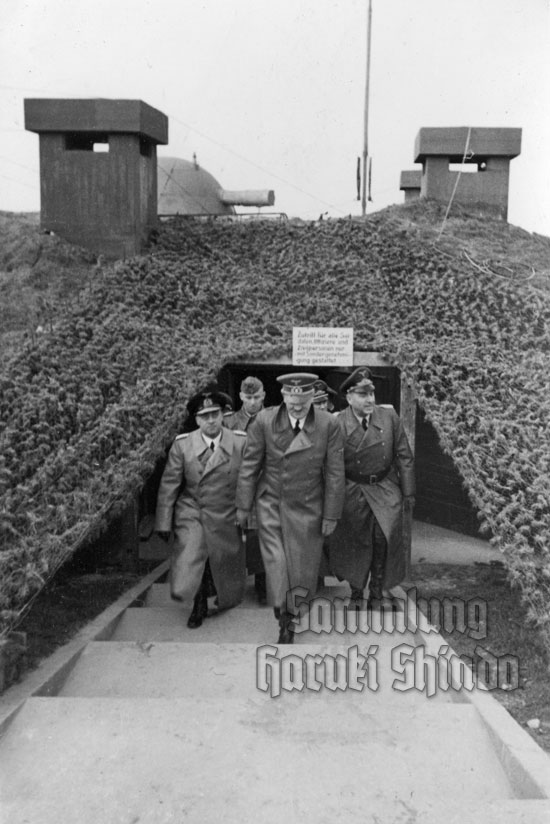 23 December 1940 worldwartwo.filminspector.com Adolf Hitler Fritz Todt Friedrich-Wilhelm Fleischer Cap Gris Nez
