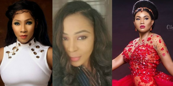 mercy aigbe tailor send used wedding dress to benin bride