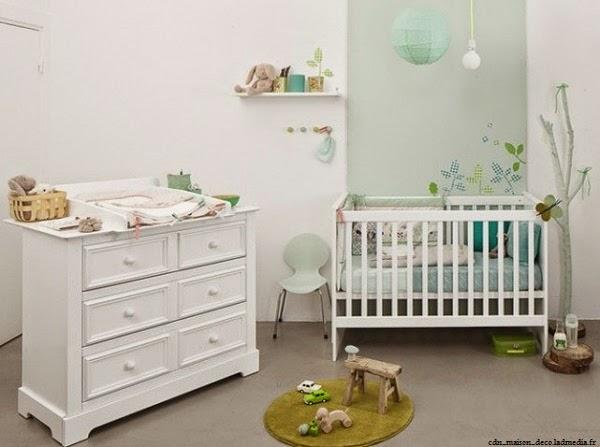 Chambre blanche bébé luxe