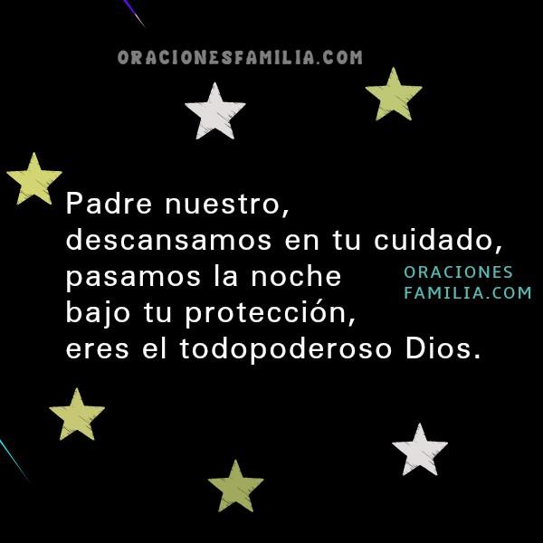 Oración para dormir en la noche de frases cortas cristianas, salmo 91, protección de Dios con ángeles en la noche, Mery Bracho, oraciones de familia con imágenes.