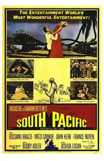 An original poster from the movie South Pacific