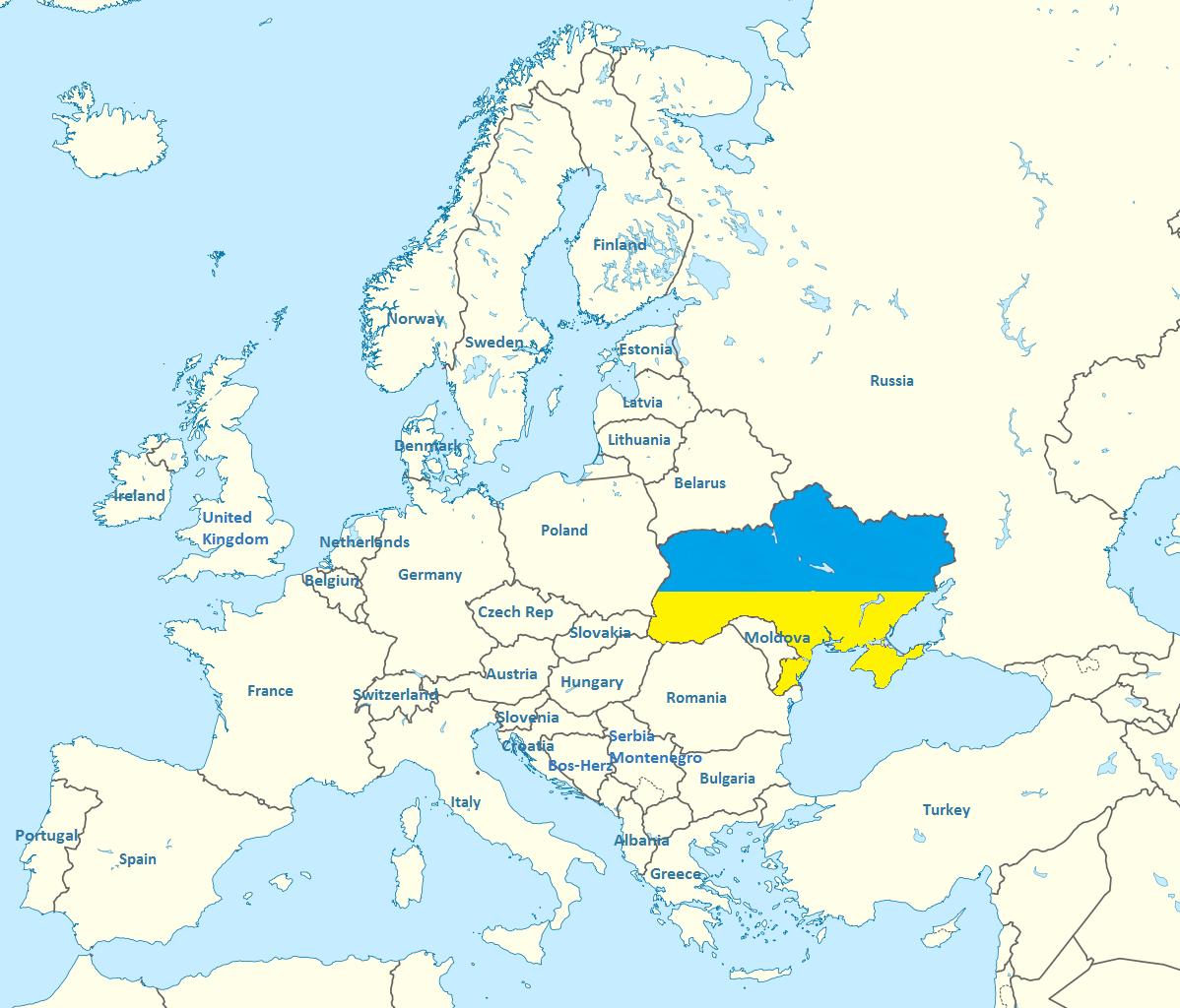 Ukraine On Map Of Europe.Ukraine John Bruton