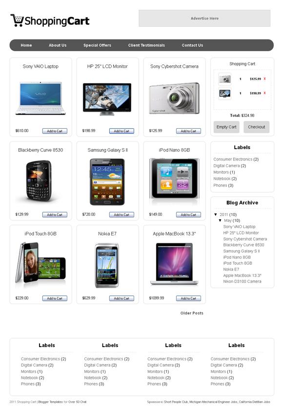 shopping cart template for blogger crea una tienda online gracias a blogger el capitalista