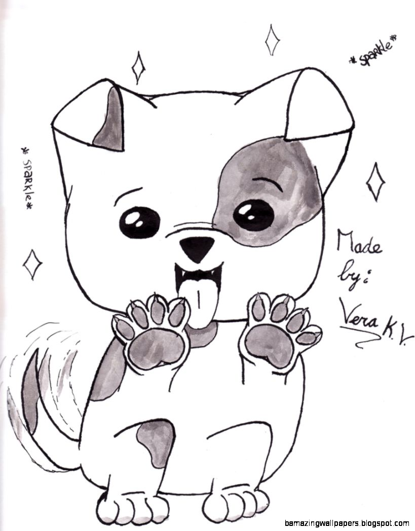 Cute Dog Drawing Amazing Wallpapers