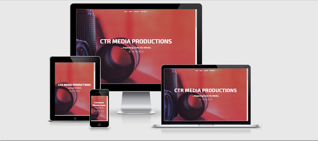 CTR Media Productions Website, Designed by Eagles Technology Solutions