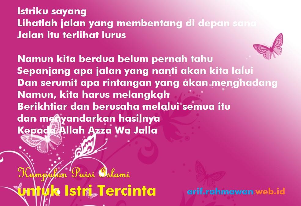 Puisi Romantis Untuk Istri Islami