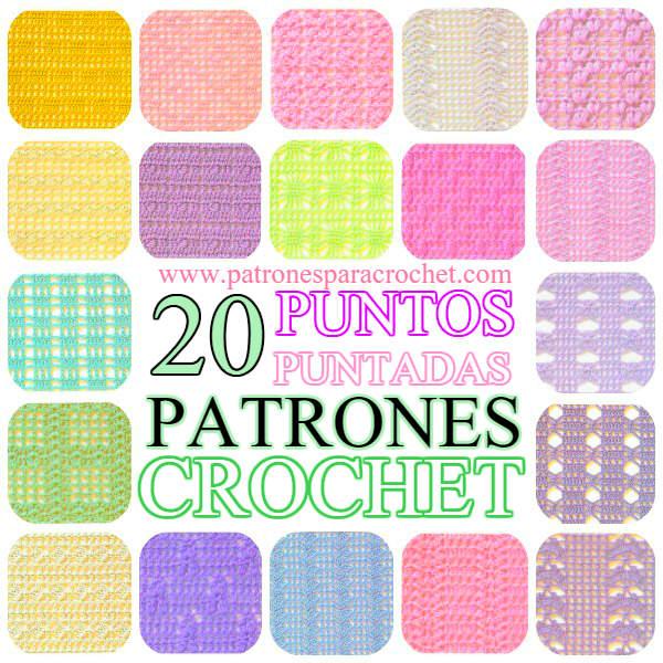 20 patrones de puntadas para tejer al crochet