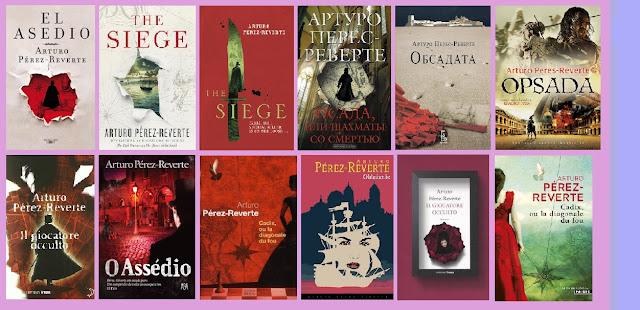 portadas del libro El asedio, de Arturo Pérez Reverte