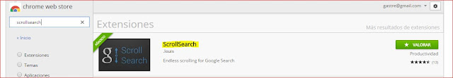 Scrollsearch - scroll infinito en búsqueda de google