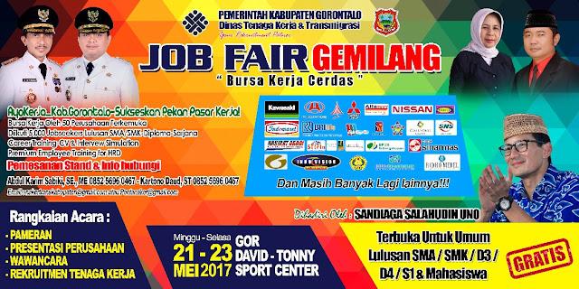 Kegiatan JOB FAIR Kabupaten Gorontalo Tahun 2017