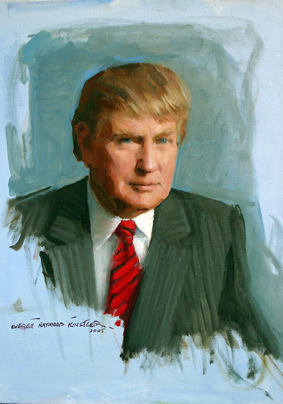 Portrait of Donald Trump, Everett Raymond Kinstler, International Art Gallery, Self Portrait, Art Gallery, Portraits Of Painters, Fine arts, Self-Portraits, Donald Trump