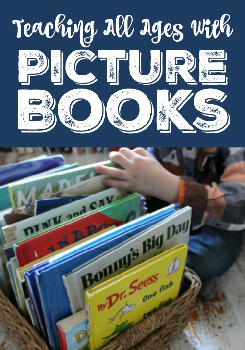 Teaching All Ages with Living Picture Books-tips and book lists