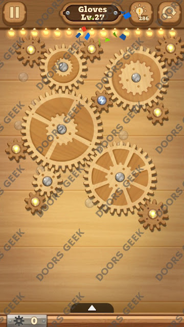 Fix it: Gear Puzzle [Gloves] Level 27 Solution, Cheats, Walkthrough for Android, iPhone, iPad and iPod