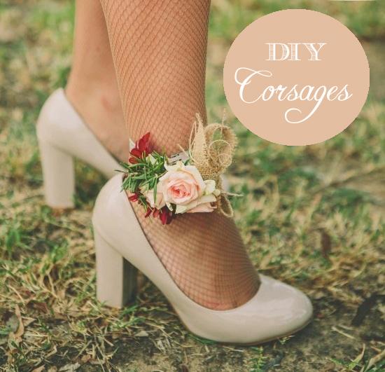 DIY wedding corsages
