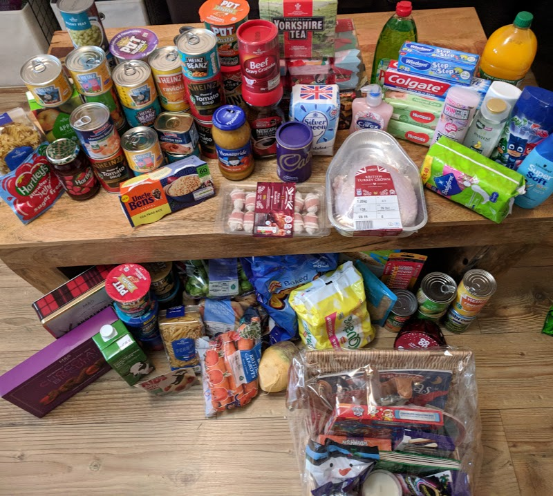 Donating Christmas in a Box to a local family in need with Feeding Families