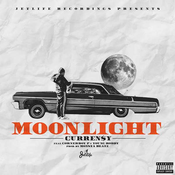Curren$y - Moonlight (feat. Cornerboy P & Young Roddy) - Single Cover