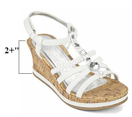 Silver Platform Wedge Wedding Shoes