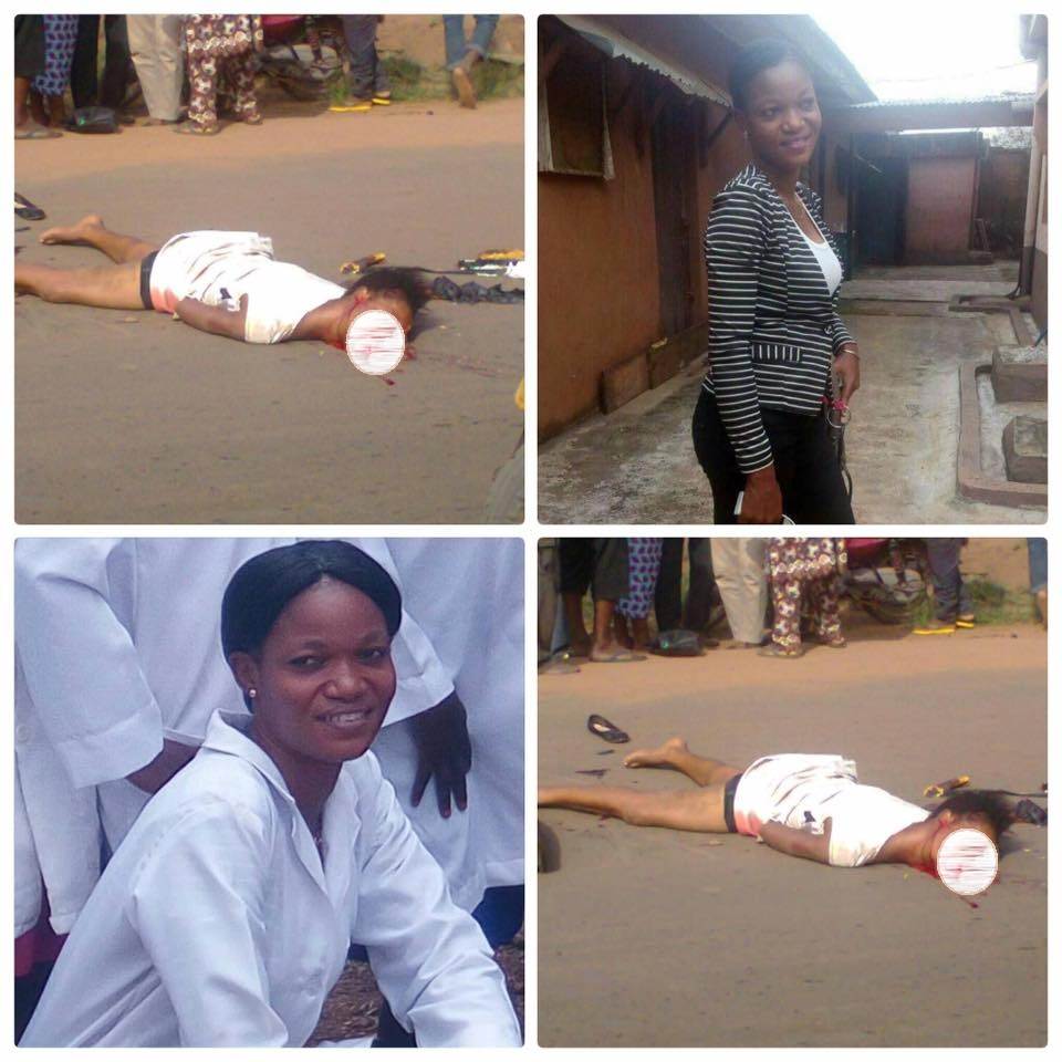 Ogun State College of Health female student crushed to death by truck on her way from the bank (Graphic Photo)