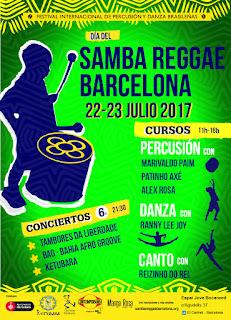 cartel FEstival Samba Reggae en Barcelona