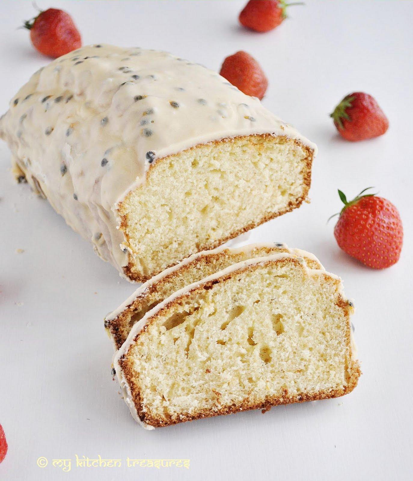 My Kitchen Treasures Passion Fruit Pound Cake