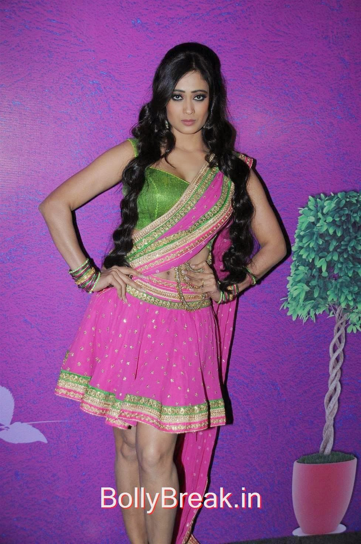 Shweta Tiwari Hot Pics In Short Skirt Lehenga Choli As -9259