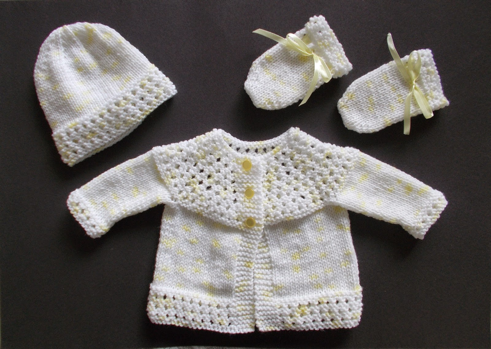 Marianna S Lazy Daisy Days Tansy Baby Jacket Hat And